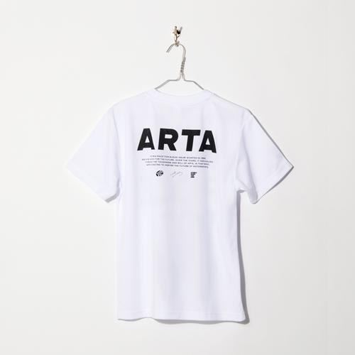 SIZE:M ARTA ドライTシャツ ホワイト バックプリント ロゴ 2018
