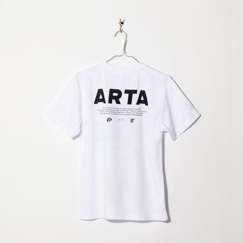 ARTA ドライTシャツ ホワイト バックプリント ロゴ 2018