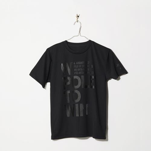 ARTA ドライTシャツ ブラック バックプリント タイポ 2018