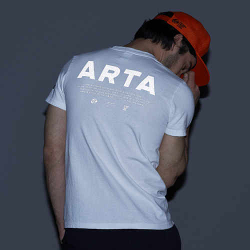 SIZE:S ARTA リフレクター USAコットンTシャツ W POLE TO WIN ホワイト 2018